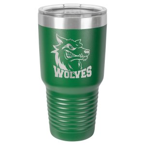 Polar Camel 30 oz. Green Ringneck Vacuum Insulated Tumbler w/Clear Lid