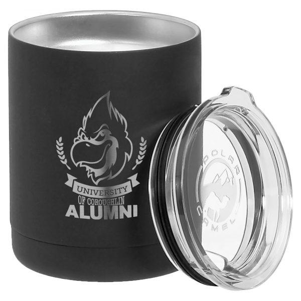 Polar Camel 10 oz. Black Vacuum Insulated Tumbler w/Clear Lid