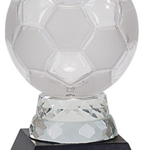 """6 1/4"""" Glass Soccer Ball with Marble Base"""