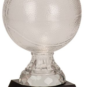 """7"""" Glass Basketball with Marble Base"""