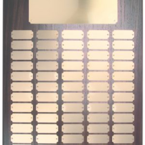 102 Black Plate Walnut Finish Completed Perpetual Plaque