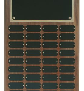 36 Plate Genuine Walnut Completed Perpetual Plaque