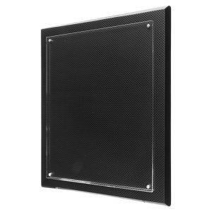 "10 1/2"" x 13"" Carbon Fiber High Gloss Floating Acrylic Plaque"